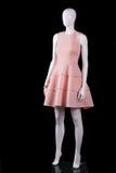 Αμάνικο φόρεμα σολομών με τις πτυχές Στοκ Εικόνα