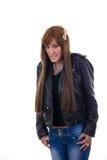 Αμήχανο κορίτσι Στοκ φωτογραφία με δικαίωμα ελεύθερης χρήσης