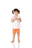 Αμήχανο μικρό κορίτσι Στοκ Φωτογραφίες