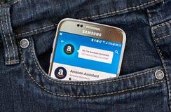 Αμαζόνιος app στη Samsung S7 Στοκ Εικόνα
