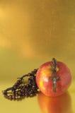 Αμαρτία η κόκκινη Apple της Eva Βίβλων Στοκ εικόνα με δικαίωμα ελεύθερης χρήσης