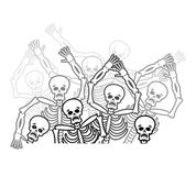 Αμαρτωλοί στην κόλαση ανήσυχη ψυχή Νεκροί στον υπόκοσμο ελεύθερη απεικόνιση δικαιώματος