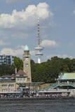 Αμβούργο - λιμενοβραχίονες του ST Pauli Στοκ Φωτογραφία
