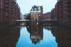 Αμβούργο Wasserschloss, Γερμανία Στοκ εικόνες με δικαίωμα ελεύθερης χρήσης