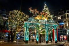 Αμβούργο Weihnachtsmarkt, Γερμανία στοκ φωτογραφία με δικαίωμα ελεύθερης χρήσης