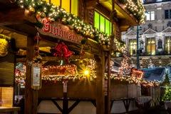 Αμβούργο Weihnachtsmarkt, Γερμανία στοκ εικόνες με δικαίωμα ελεύθερης χρήσης