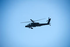 Αμερικάνικος στρατός Boeing Apache ah-64 ελικόπτερο Στοκ Εικόνες