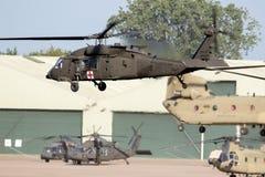 αμερικάνικος στρατός Sikorsky uh-60 ελικόπτερα μεταφορών Blackhawk στοκ εικόνα