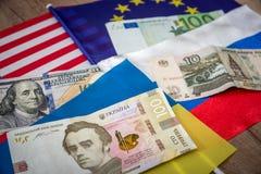 Αμερική, Ευρώπη, Ουκρανία και Ρωσία Στοκ Εικόνες