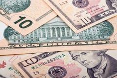 Αμερικανικά δέκα δολάρια Στοκ Εικόνα