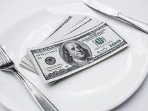 Αμερικανικά αμερικανικά δολάρια Στοκ Φωτογραφία