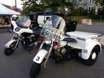 Αμερικανικά αστυνομικά οχήματα, μοτοσικλέτες, Hummer, Rutherford, NJ, ΗΠΑ Στοκ εικόνα με δικαίωμα ελεύθερης χρήσης