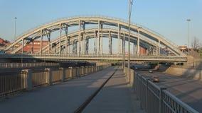 Αμερικανικά γέφυρες και ανάχωμα του καναλιού Obvodny Πετρούπολη Άγιος απόθεμα βίντεο