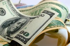 Αμερικανικά δολάρια μετρητών Στοκ εικόνες με δικαίωμα ελεύθερης χρήσης