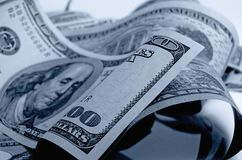 Αμερικανικά δολάρια μετρητών Στοκ φωτογραφίες με δικαίωμα ελεύθερης χρήσης