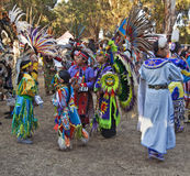 αμερικανικά ινδικά κατσίκια powwow Στάνφορντ Στοκ Φωτογραφίες