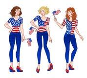 αμερικανικά κορίτσια Στοκ Εικόνες