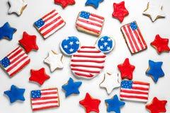Αμερικανικά μπισκότα ημέρας της ανεξαρτησίας Στοκ Εικόνες
