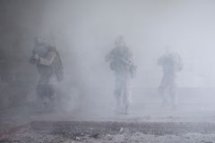 Αμερικανικά ναυτικά στη δράση Στοκ φωτογραφία με δικαίωμα ελεύθερης χρήσης