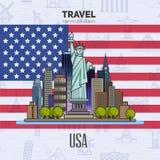 Αμερικανικά ορόσημα, αρχιτεκτονική Στοκ Φωτογραφίες