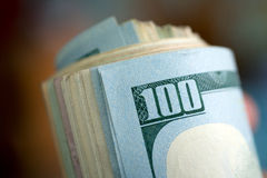 Αμερικανικά δολάρια δεσμών Στοκ Εικόνα