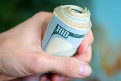 Αμερικανικά δολάρια δεσμών Στοκ Φωτογραφίες