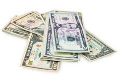 Αμερικανικά δολάρια που απομονώνονται Στοκ Φωτογραφίες