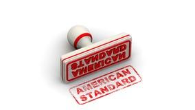 Αμερικανικά πρότυπα Το γραμματόσημο αφήνει μια σφραγίδα διανυσματική απεικόνιση