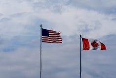 αμερικανικά σύνορα Καναδός Στοκ Φωτογραφία