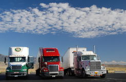 Αμερικανικά φορτηγά Στοκ εικόνα με δικαίωμα ελεύθερης χρήσης