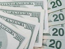 Αμερικανικά χρήματα Στοκ εικόνα με δικαίωμα ελεύθερης χρήσης