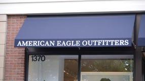 Αμερικανικά Outfitters Storefront αετών Στοκ εικόνα με δικαίωμα ελεύθερης χρήσης