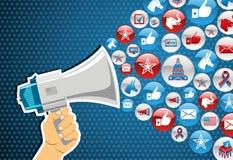Αμερικανικές εκλογές: προώθηση μηνυμάτων πολιτικής Στοκ εικόνα με δικαίωμα ελεύθερης χρήσης