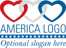 αμερικανικές καρδιές Στοκ Εικόνα