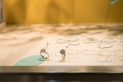 αμερικανικές ομο ασημικές κοσμημάτων επιχείρησης tiffany Λιανική θέση λεωφόρων Στοκ Εικόνες