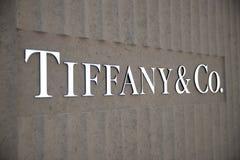 αμερικανικές ομο ασημικές κοσμημάτων επιχείρησης tiffany Λιανική θέση λεωφόρων Στοκ φωτογραφία με δικαίωμα ελεύθερης χρήσης