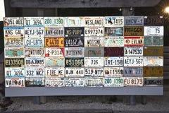 Αμερικανικές πινακίδες αριθμού κυκλοφορίας Στοκ εικόνα με δικαίωμα ελεύθερης χρήσης