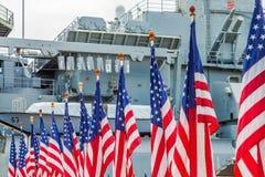 Αμερικανικές σημαίες Μισσούρι Στοκ εικόνα με δικαίωμα ελεύθερης χρήσης