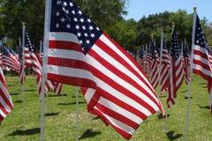 αμερικανικές σημαίες πε&de Στοκ φωτογραφίες με δικαίωμα ελεύθερης χρήσης