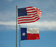 αμερικανικές σημαίες Τέξας Στοκ Φωτογραφίες