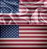 Αμερικανικές σημαίες υφάσματος Στοκ Εικόνα