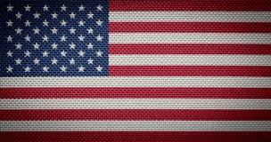 Αμερικανικές σημαίες υφάσματος Στοκ Εικόνες