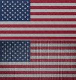 Αμερικανικές σημαίες υφάσματος Στοκ εικόνα με δικαίωμα ελεύθερης χρήσης