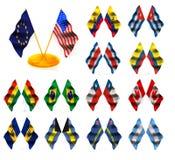 αμερικανικές σημαίες 1 Στοκ Εικόνες