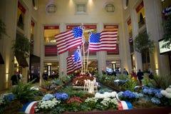 Αμερικανικές σημαίες Στοκ εικόνες με δικαίωμα ελεύθερης χρήσης