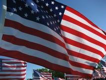αμερικανικές σημαίες Στοκ φωτογραφία με δικαίωμα ελεύθερης χρήσης