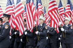 343 αμερικανικές σημαίες στοκ φωτογραφίες