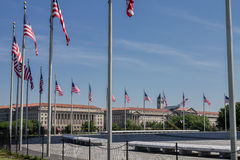 Αμερικανικές σημαίες Washington DC Στοκ φωτογραφία με δικαίωμα ελεύθερης χρήσης