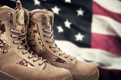 Αμερικανικές στρατιωτικές μπότες στοκ εικόνα με δικαίωμα ελεύθερης χρήσης