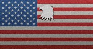 Αμερικανική ΑΜΕΡΙΚΑΝΙΚΗ σημαία με την τολμηρή μορφή αετών σύστασης Στοκ φωτογραφίες με δικαίωμα ελεύθερης χρήσης